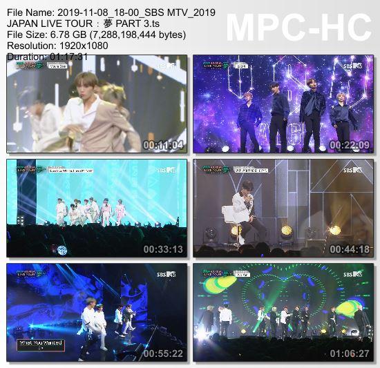 [TV-Variety] JAPAN Live Tour : 夢 PART 3 (SBS MTV 2019.11.08)