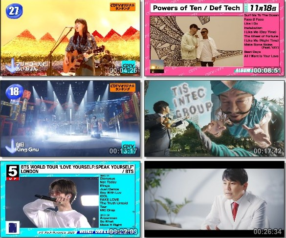 [TV-Variety] CDTVサタデー – 2020.11.21