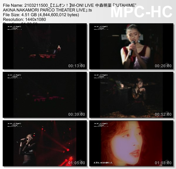 "[TV-Variety] 中森明菜 「""UTAHIME"" AKINA NAKAMORI PARCO THEATER LIVE」(M-ON! HD 2021.03.21)"