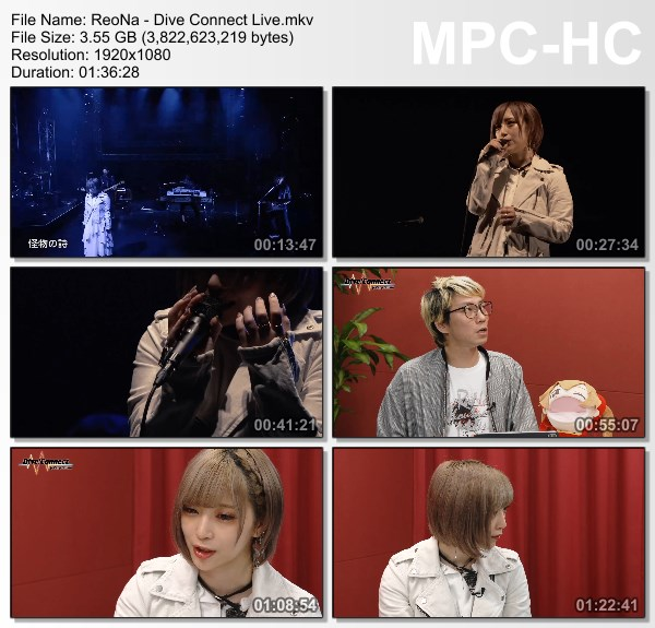 [TV-Variety] ReoNa – Dive Connect at Zepp Online 2020