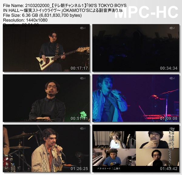 [TV-Variety] OKAMOTO'S – 「90'S TOKYO BOYS IN HALL~爆笑ストイックライヴ~」OKAMOTO'Sによる副音声あり (TeleAsa Ch1 2021.03.20)