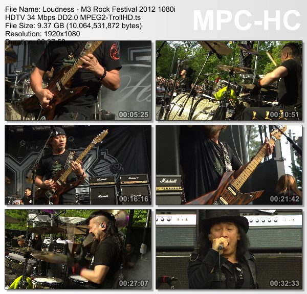 [TV-Variety] ラウドネス – M3 Rock Festival Day-2 [2012.05.12]