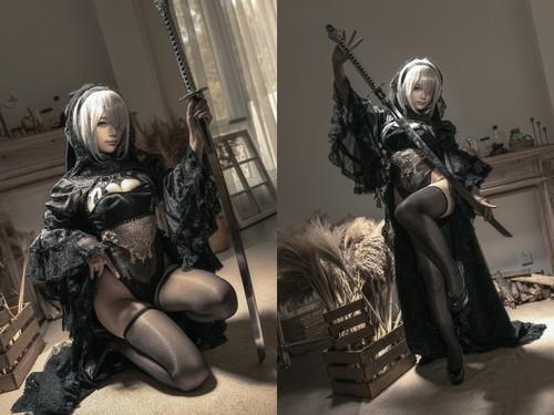 [Cosplay] Chun Momo 蠢沫沫 – NieR: Automata Black Bride 尼尔纪元 黑花嫁