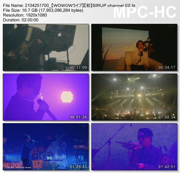 [TV-Variety] SIRUP channel 02 (WOWOW Live 2021.04.25)