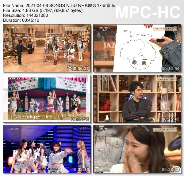 [TV-Variety] NHK SONGS (2021.04.08) – #569 – NiziU
