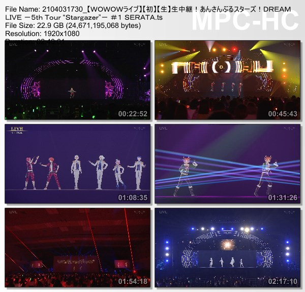 """[TV-Variety] あんさんぶるスターズ!DREAM LIVE -5th Tour """"Stargazer""""- #1 SERATA (WOWOW Live 2021.04.03)"""