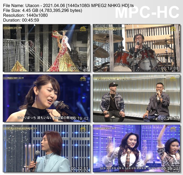 [TV-Variety] うたコン – 2020.04.06