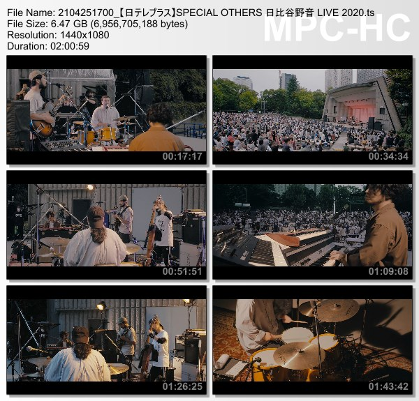 [TV-Variety] SPECIAL OTHERS 日比谷野音 LIVE 2020 (NTV+ HD 2021.04.25)