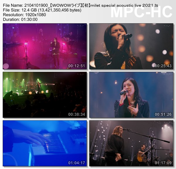 [TV-Variety] ミレイ – milet special acoustic live 2021 (WOWOW Live 2021.04.10)