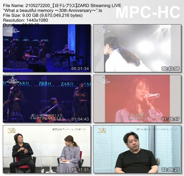 "[TV-Variety] ZARD Streaming LIVE ""What a beautiful memory ~30th Anniversary~"" (NTV+ HD 2021.05.27)"