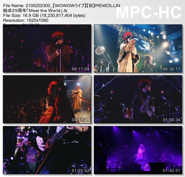 [TV-Variety] PENICILLIN 結成29周年「Meet the World」(WOWOW Live 2021.05.20)