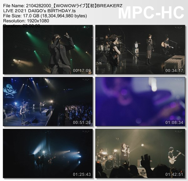 [TV-Variety] BREAKERZ LIVE 2021 DAIGO's BIRTHDAY (WOWOW Live 2021.04.28)