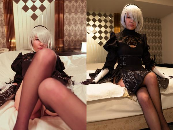 """[Cosplay] kenakkey – Bukkake on a general-purpose combat android """"It is forbidden to have emotions, but panty stains can not be hidden"""" 汎用戦闘アンドロイドにぶっかけ「感情を持つことは禁止。でもパンティのシミは隠せていない」 (NieR: Automata)"""
