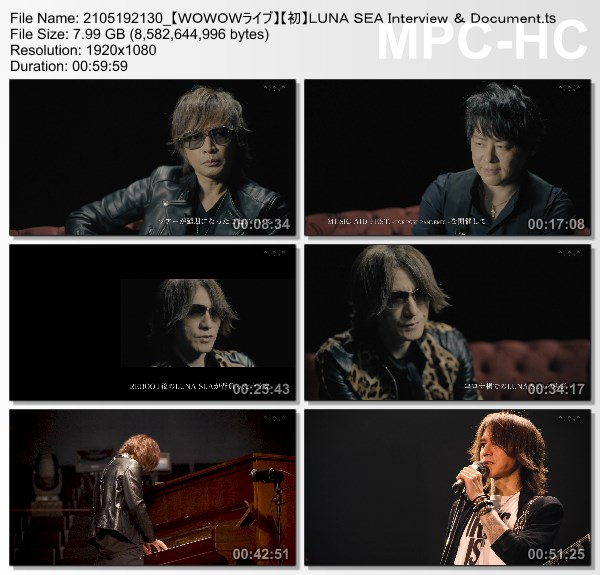 [TV-Variety] LUNA SEA Interview & Document (WOWOW Live 2021.05.19)