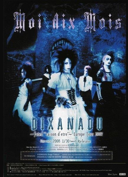 """[TV-SHOW] MOI DIX MOIS – DIXANADU FATED """"RAISON D'ETRE"""" – EUROPE TOUR 2007 (2008.01.30) (DVDVOB)"""