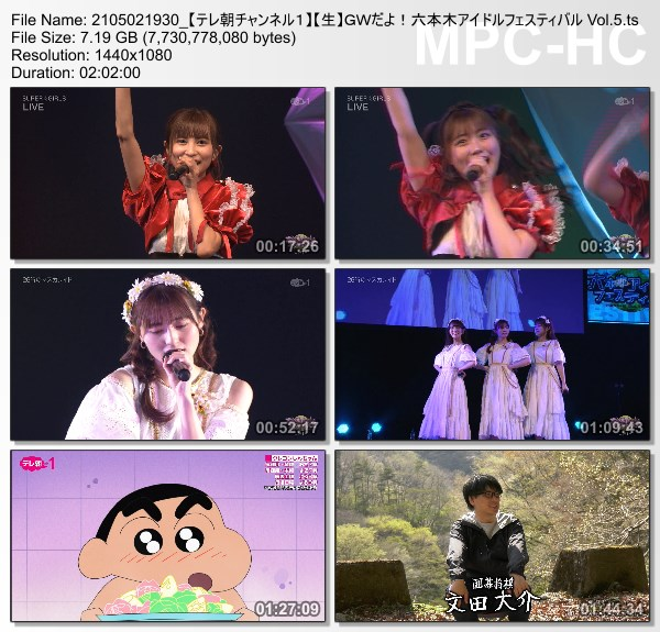 [TV-Variety] 六本木アイドルフェスティバル Vol.5 (TeleAsa Ch1 2021.05.02)