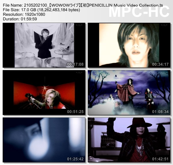 [TV-Variety] PENICILLIN Music Video Collection (WOWOW Live 2021.05.20)
