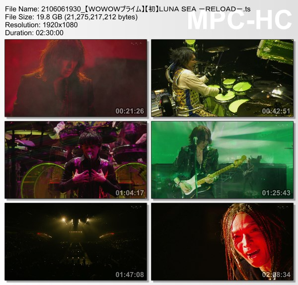[TV-Variety] LUNA SEA -RELOAD- (WOWOW Prime 2021.06.06)