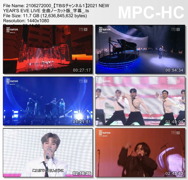 [TV-Variety] BTS – 2021 NEW YEAR'S EVE LIVE 全曲ノーカット版 (TBS Channel 1 2021.06.27)