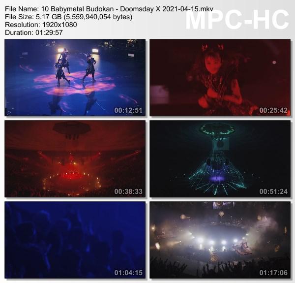 [TV-Variety] ベビーメタル – 10 Babymetal Budokan – Doomsday X (2021.04.15)