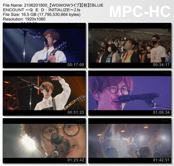 [TV-Variety] BLUE ENCOUNT ~Q.E.D : INITIALIZE~ (WOWOW Live 2021.06.20)