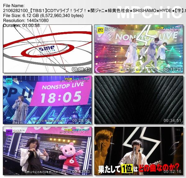 [TV-Variety] CDTVライブ!ライブ! – 2021.06.28