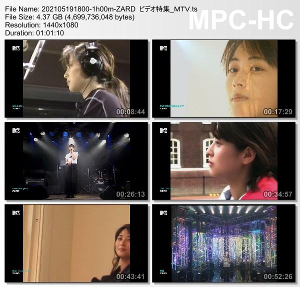 [TV-Variety] ZARD ビデオ特集 (M-ON! HD 2021.05.19)
