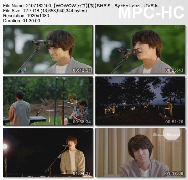 """[TV-Variety] SHE'S """"By the Lake"""" LIVE (WOWOW Live 2021.07.18)"""