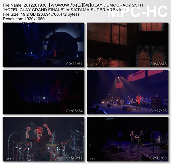 "[TV-Variety] GLAY DEMOCRACY 25TH ""HOTEL GLAY GRAND FINALE"" in SAITAMA SUPER ARENA (WOWOW Prime 2020.12.20)"