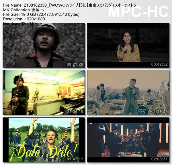 [TV-Variety] 東京スカパラダイスオーケストラ MV Collection 後編 (WOWOW Live 2021.08.18)