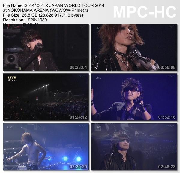 [TV-Variety] X JAPAN WORLD TOUR 2014 at YOKOHAMA ARENA (WOWOW Prime 2014.10.01)