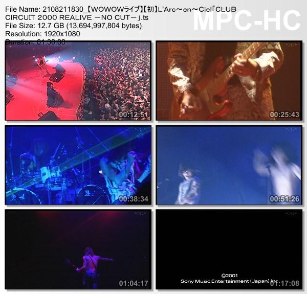 "[TV-Variety] L'Arc~en~Ciel ""CLUB CIRCUIT 2000 REALIVE -NO CUT-"" (WOWOW Live 2021.08.21)"