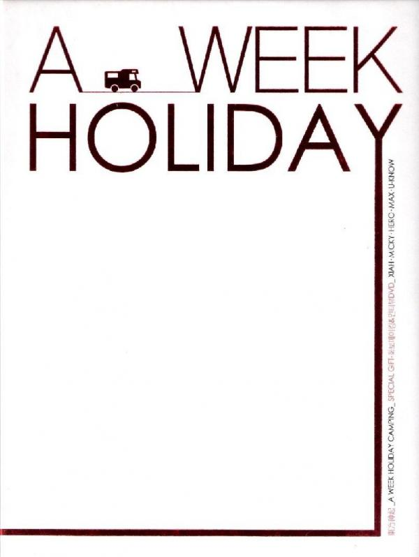 [TV-SHOW] DONG BANG SHIN KI 동방신기 – A Week Holiday Photobook (2008.07.21) (DVDRIP)