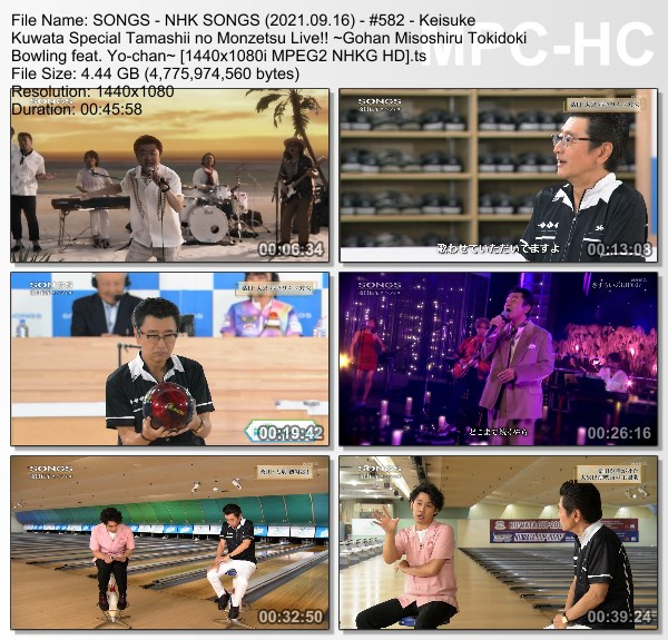 [TV-Variety] NHK SONGS (2021.09.16) – 第582回 – 桑田佳祐スペシャル 魂の悶絶ライブ!! 〜ごはん味噌汁時々ボウリングfeat. 洋ちゃん~