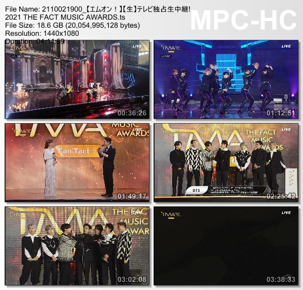 [TV-Variety] THE FACT MUSIC AWARDS (M-ON HD 2021.10.02)