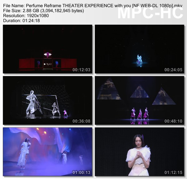 [TV-Variety] Perfume – Reframe THEATER EXPERIENCE with you (Netflix)