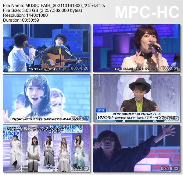 [TV-Variety] MUSIC FAIR – 2021.10.16