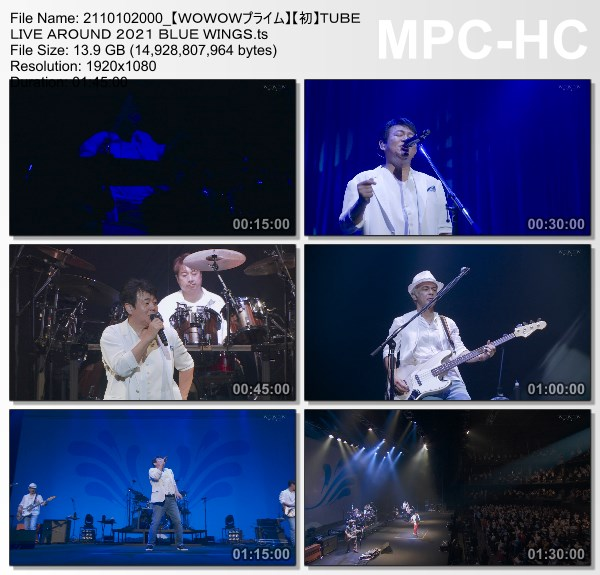 [TV-Variety] TUBE LIVE AROUND 2021 BLUE WINGS (WOWOW Prime 2021.10.10)