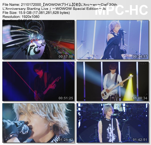 """[TV-Variety] L'Arc~en~Ciel 30th L'Anniversary Starting Live """"L'APPY BIRTHDAY!"""" -WOWOW Special Edition- (WOWOW Prime 2021.10.17)"""